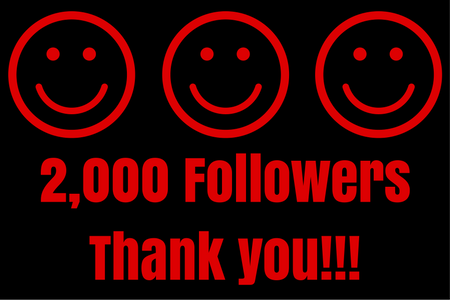 2,000 FollowersThankyou!!!