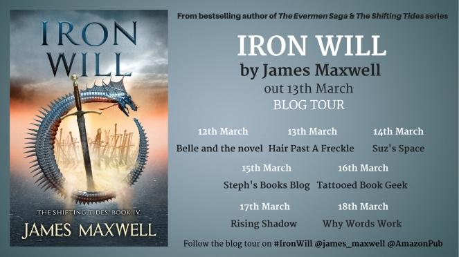 Iron Will Blog tour banner
