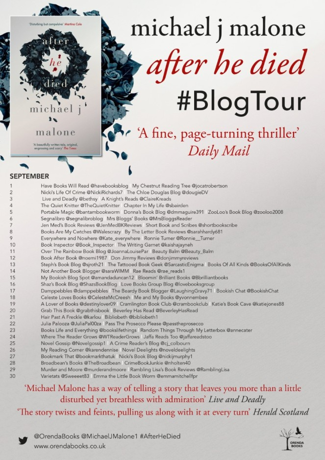 After He Died Blog Tour Poster