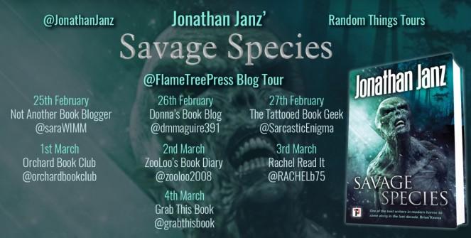Savage Species Blog Tour Poster