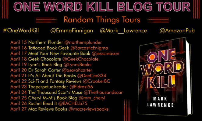 One Word Kill Blog Tour Poster