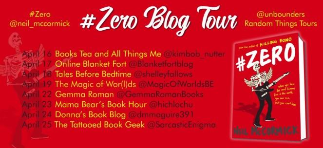 Zero Blog Tour Poster